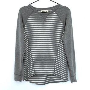 Olive & Oak Striped Pullover Sweatshirt